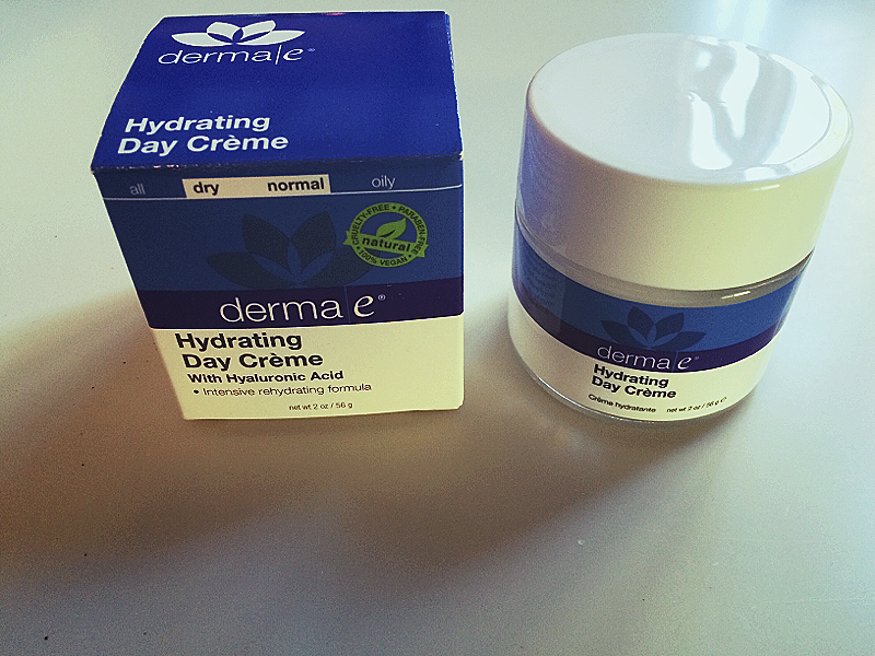 Hydrating Day Creme with Hyaluronic Acid   This ultra-hydrating day crème thoroughly moisturizes and plumps to reduce the look of fine lines and wrinkles. If you haven't used a product with Hyaluronic Acid before then after using this product you won't accept a day creme with out it. It immediately hydrates my skin and plumps up fine lines! And if your skin gets dry in the fall and winter season like mine then this is   THE   facial moisturizer for you.     Learn About the Brand   derma e® didn't start out in the beauty aisle or the board room.  Instead, we started out in a local health food store in Southern California. Our first product was a jar of 12,000 I.U. Vitamin E Moisturizing Crème. People were amazed at the results it had on their skin, and word caught on.  Over the years, we've introduced many extraordinary products, each one rooted in our belief that skin health can be visibly improved through the right combination of potent vitamins, wholesome nutrients and good, clean hydration.  Today, we've grown to become one of the largest natural facial care brands in the US. We attribute our success to honoring our customers with products that promote healthier looking skin and business ethics that promote a healthier world.