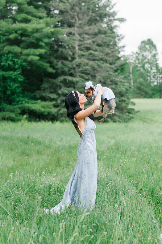 """Fur Babies    Many of of us have a pet that we consider our child so why not have them be a part of the wedding party? Have them as your """"flower girl"""" or """"ring bearer"""" and purchase a cute outfit that fits the theme of the wedding. Hearts will melt and they get walked down the aisle!"""