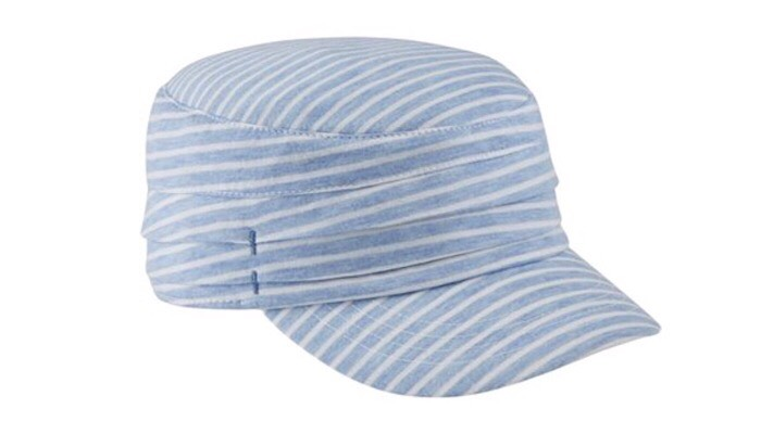 "Spring Accessorizing    Stripes for Summer are always in style and the newsboy style is back this season! ""Whether she's getting her hands dirty in the garden, training outdoors or enjoying a beach day, thiis Military Cap is the perfect gift for every Super Mom. With a built-in moisture-wicking sweatband and UPF 20 sun protection, the Military Cap lets mom conquer all her daily duties without compromising style or comfort – because she really does deserve it all!"" Throw this hat on for a day at the beach or with a casual tee and a pair of shorts.  $29.50, at  Duluth Trading Co."