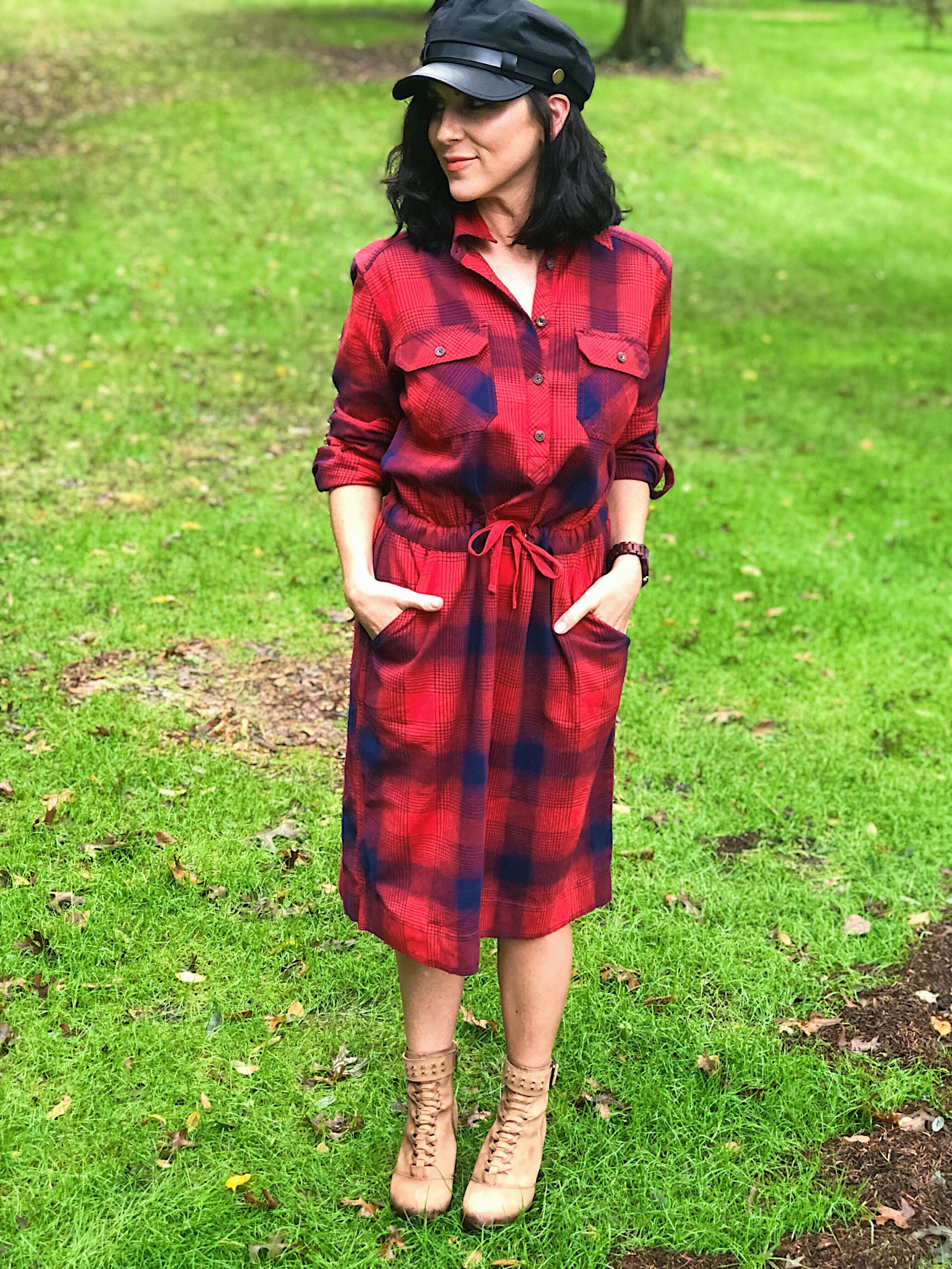 Plaid Dress by       Duluth Trading Company