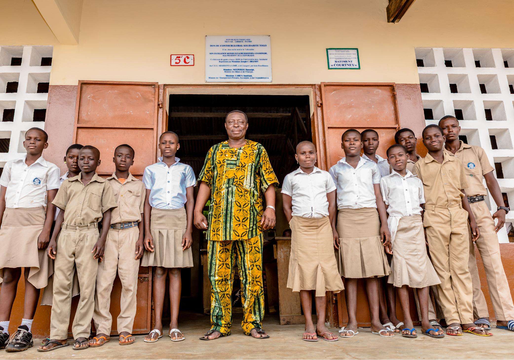 School Headmaster and Students, Lomé, togo