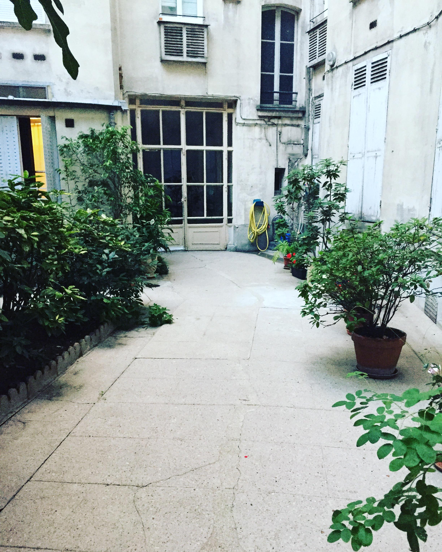 Typical Parisian courtyard