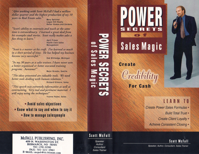 This is the cover to my Sales Magic audio program. I was extremely proud of developing this product and it did exceptionally well in the market place.