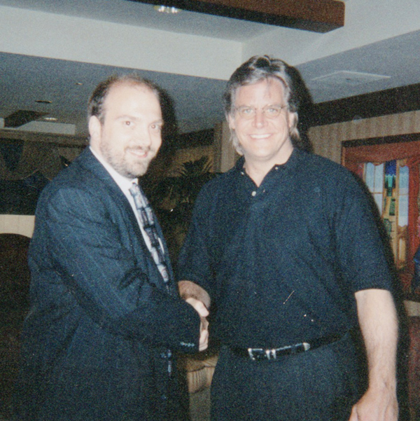 Elvis Presley's step brother, David Stanley, and myself. David said Elvis died from a lack of accountability. I thought about that for a long time.