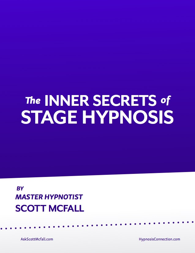 This is the book I hand out to all my stage hypnosis trainees where I reveal the secrets of how to perform an ethical hypnosis stage show and market services as a stage hypnotist.