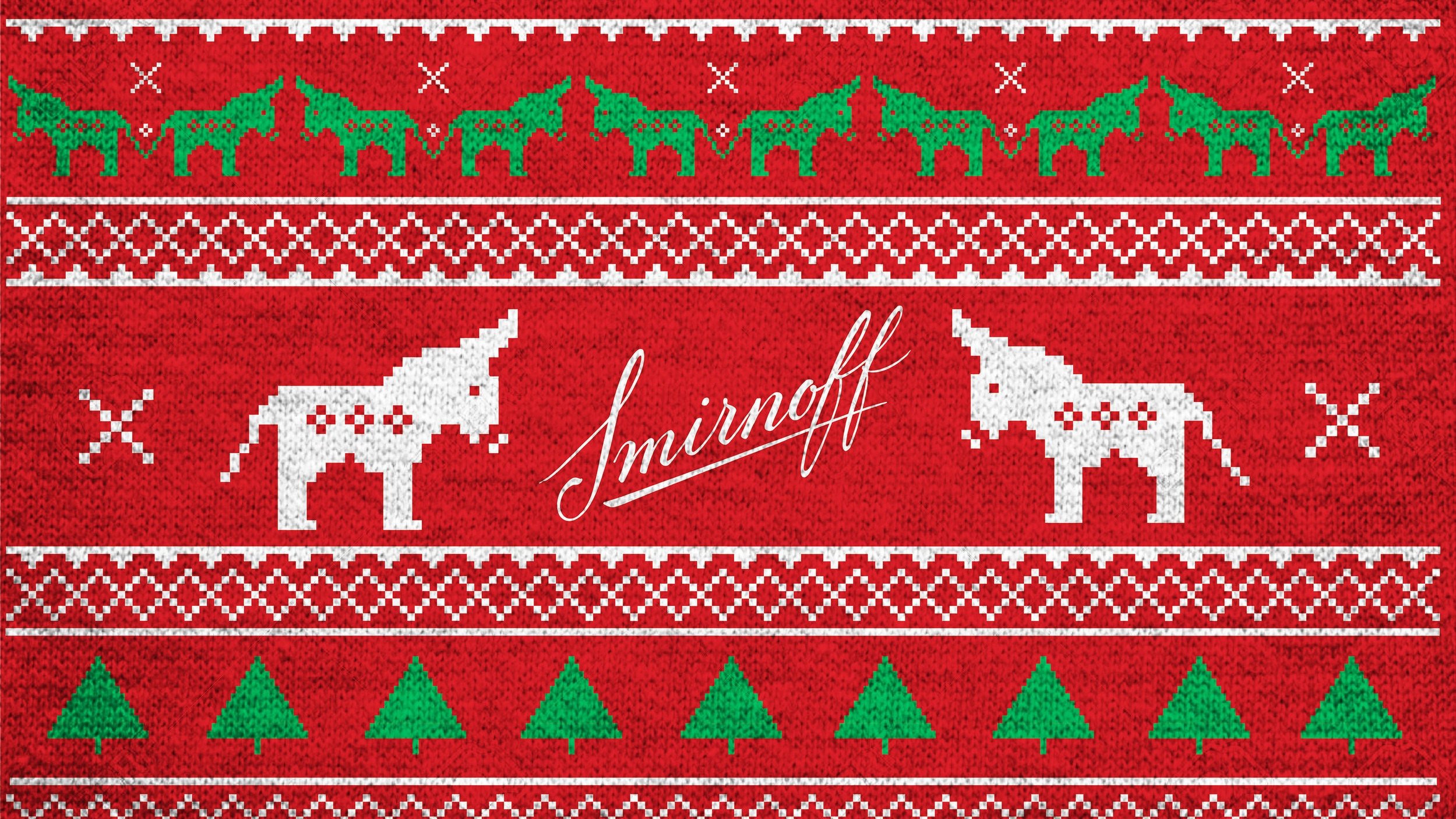 SMIRNOFF - HOLIDAY MULE UGLY SWEATER - Textile Design
