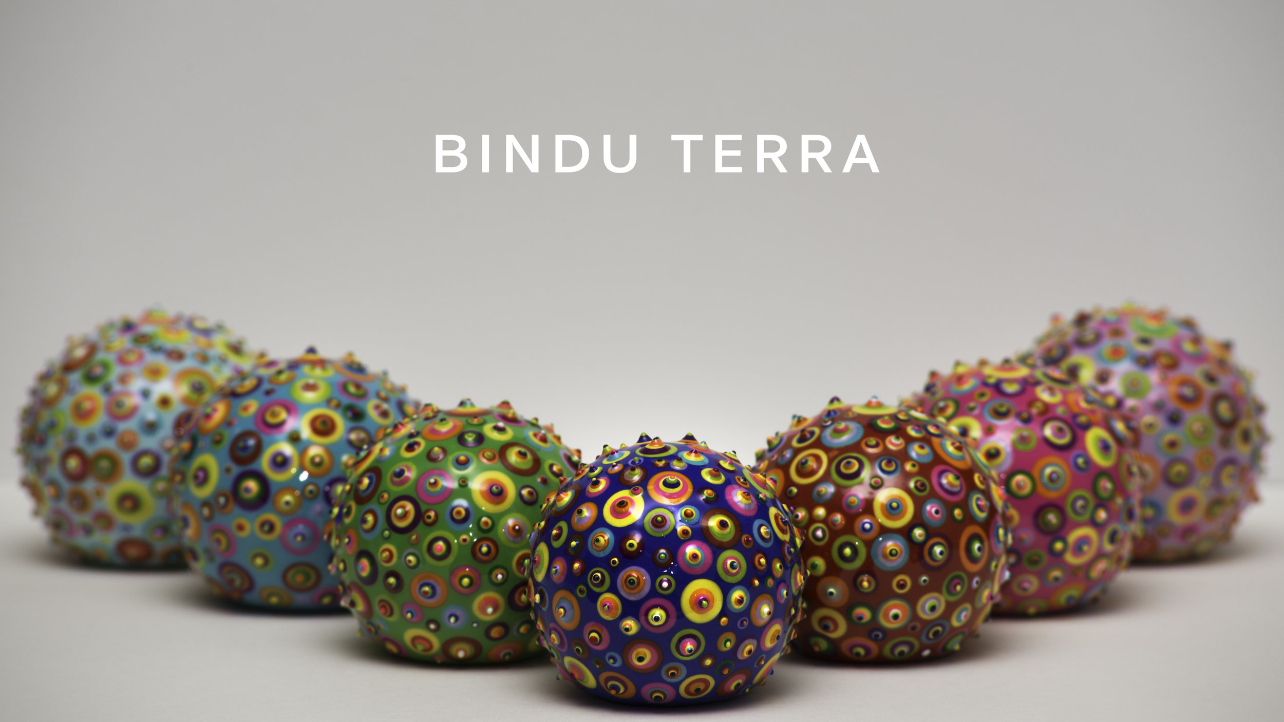 "Bindu Terra. 2"". Acrylic and resin on wood. 2016. SOLD"
