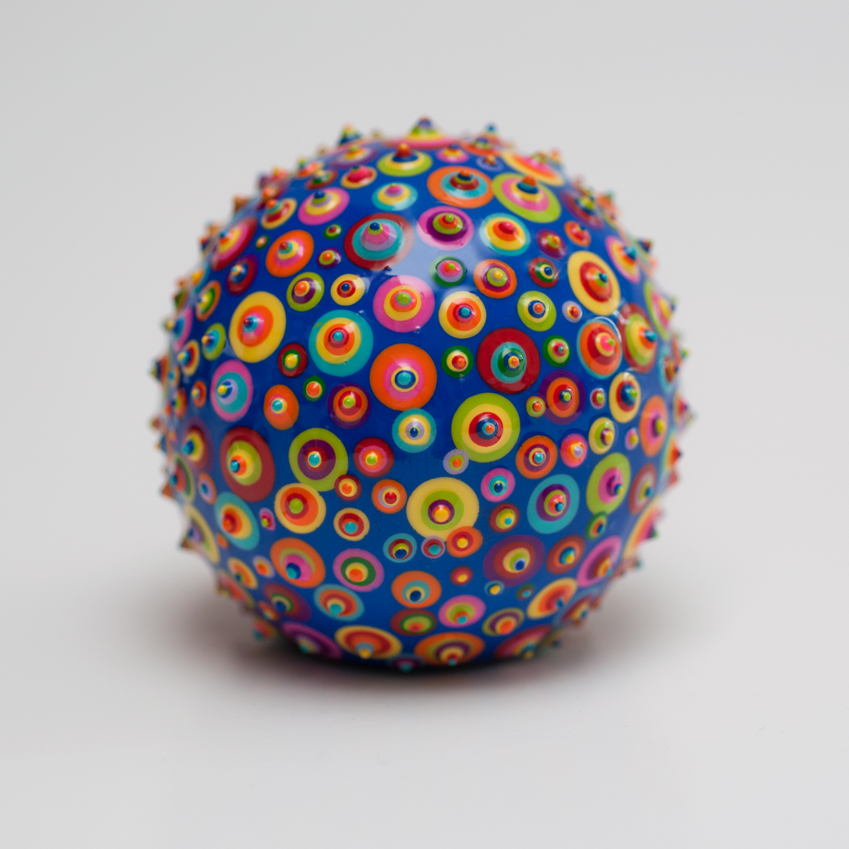 "Bindu Terra. 2-1/2"". Acrylic and resin on wood. 2015."