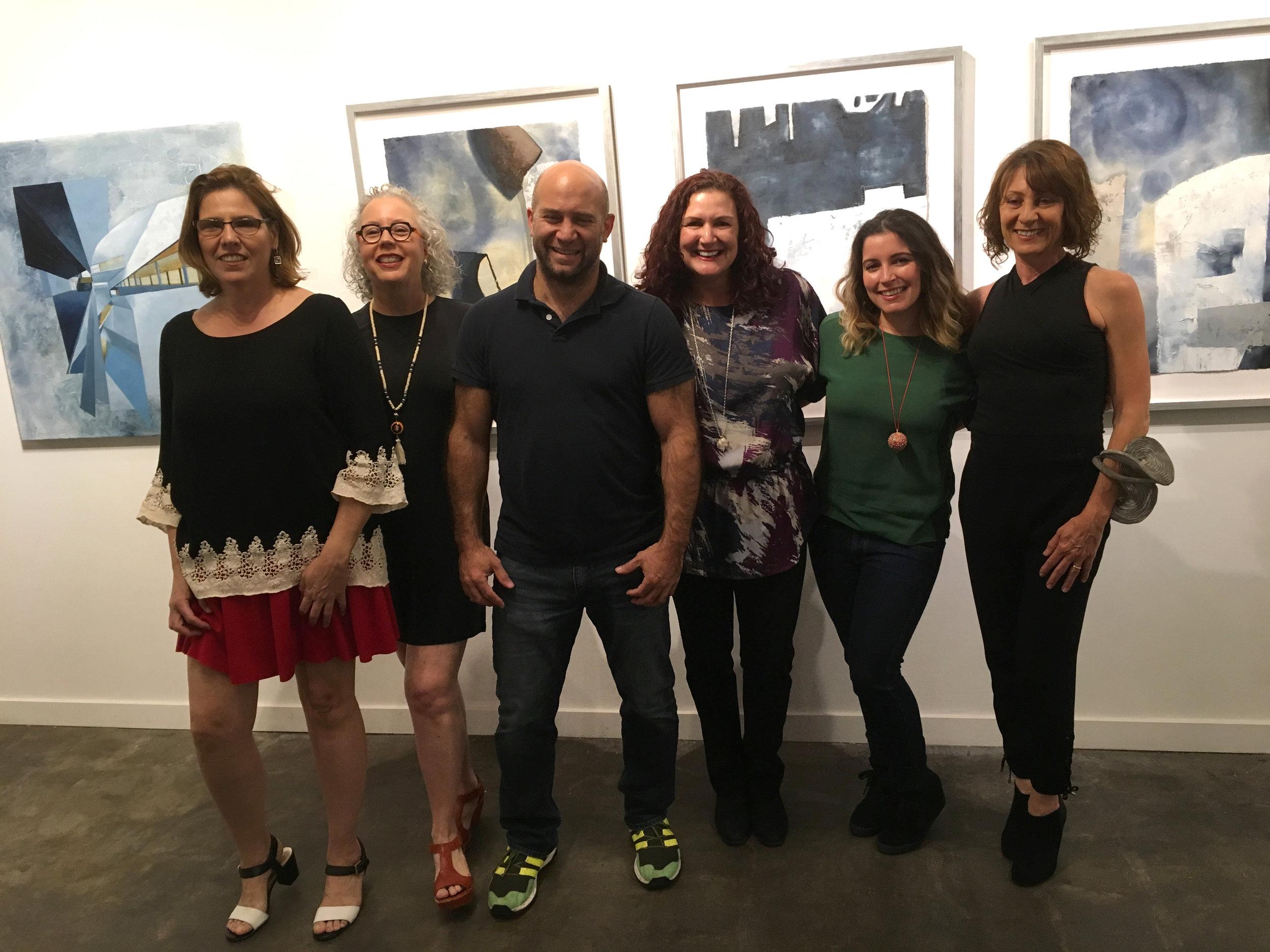 My artist friends! From left to right Carolina Otero Pardo, Luisa Duarte. Verny Sanchez, Lorena Morales, Moi, Mariana Sammartino.