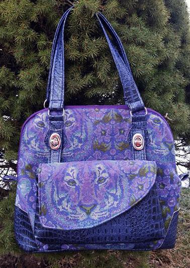 The new Koala Handbag with detachable Clutch pattern by RLR Creations.