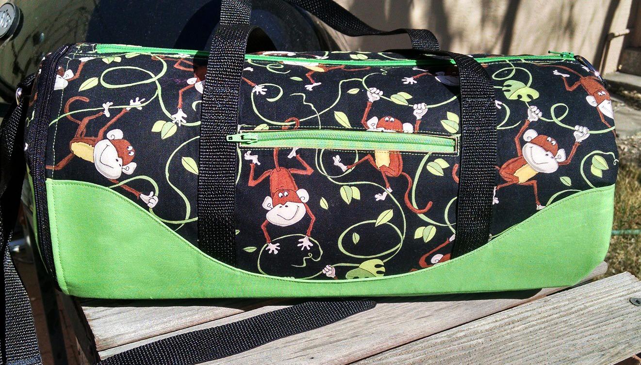 Chass/é Girls Basic Duffle Bag Dark Green