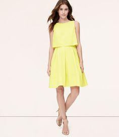 LOFT Citron Crop Illusion Dress