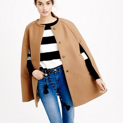J.Crew Cape Jacket in Wool Melton - Southern New Yorker - Cuurently Craving October Wishlist