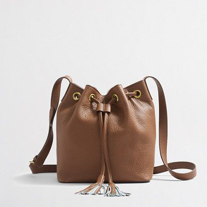 J.Crew Factory Leather Bucket Bag with Tassel - Currently Craving February - Southern New Yorker