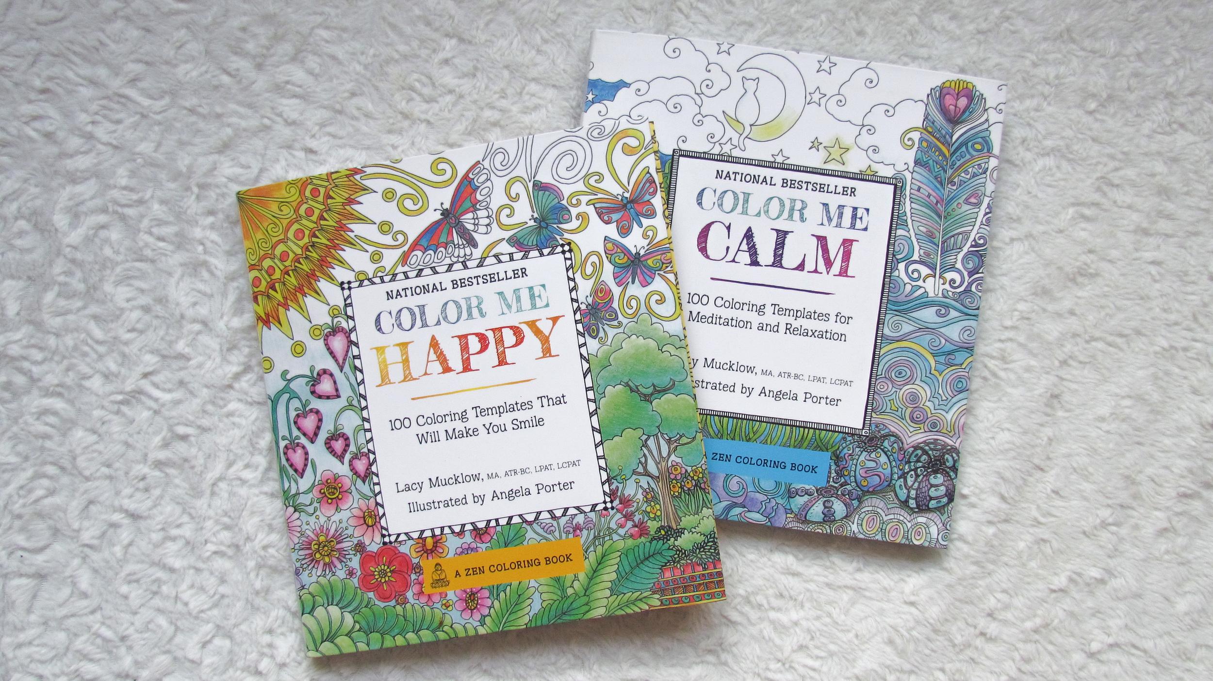 April Favorites - Color Me Happy & Color Me Calm Adult coloring books