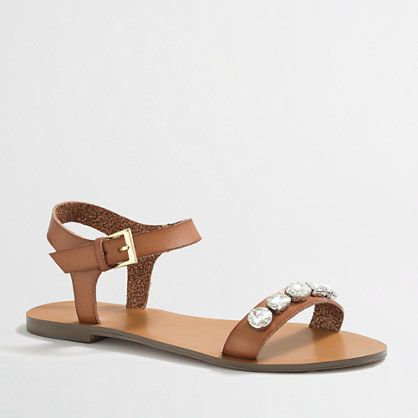 J.Crew Factory jeweled sandals - Southern New Yorker