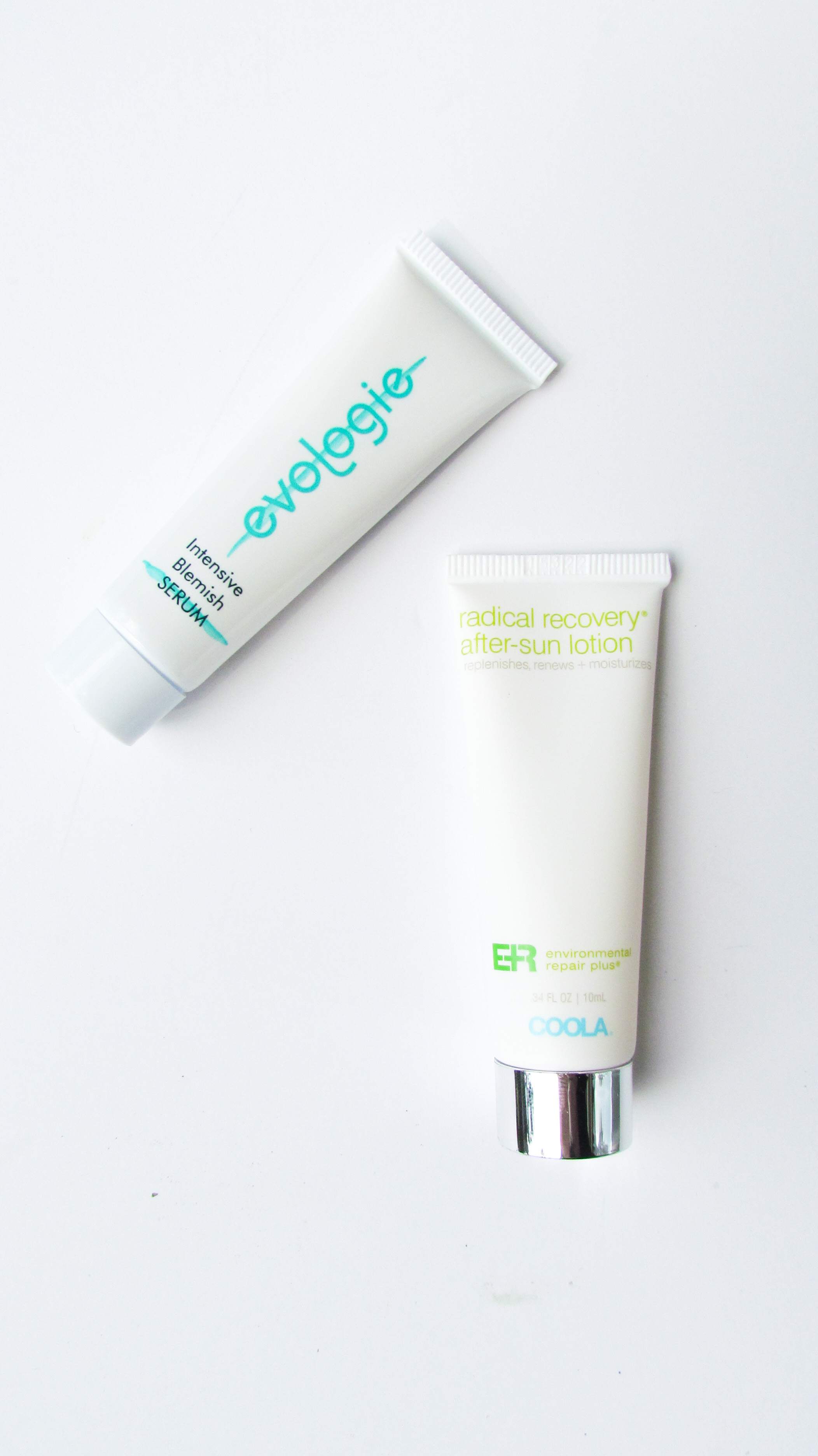 Coola Environmental Repair Plus Radical Recovery After Sun Lotion, Evologie Intensive Blemish Serum