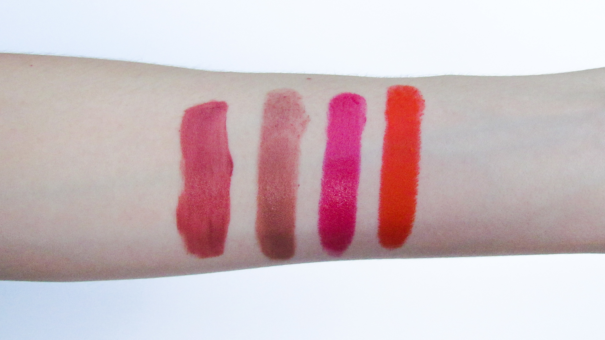 Left to Right: NYX, Charlotte Tilbury, Clinique, Kat Von D