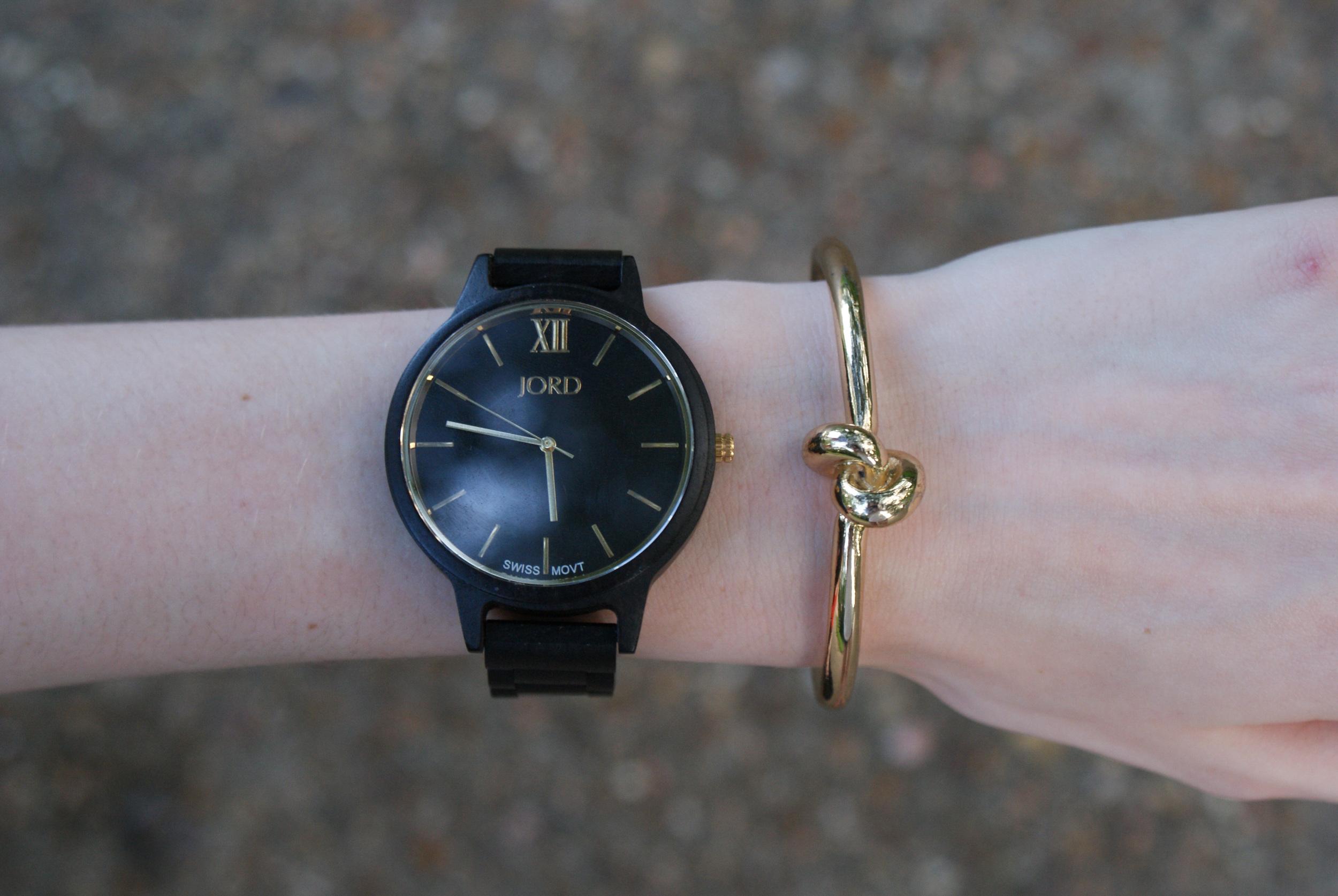 jord ebony and gold frankie watch