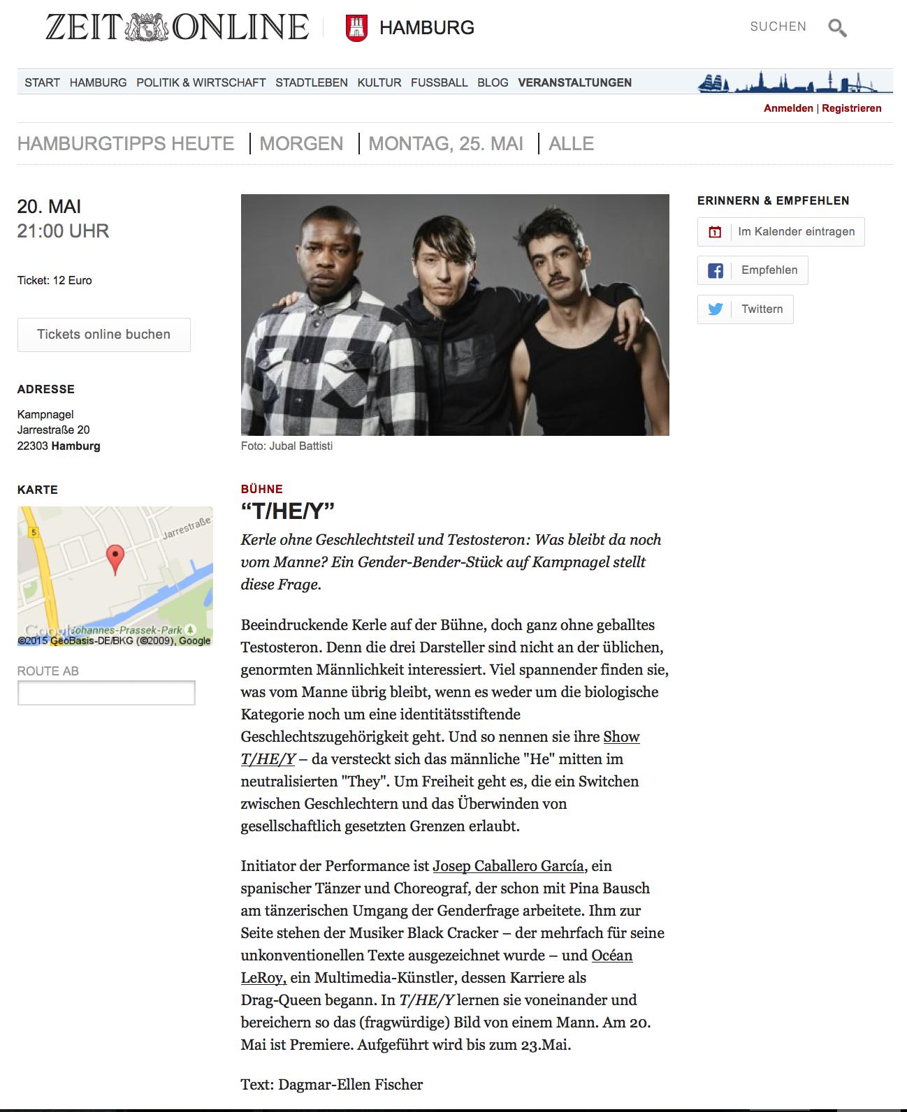 Blog ZEIT Online T/HE/Y