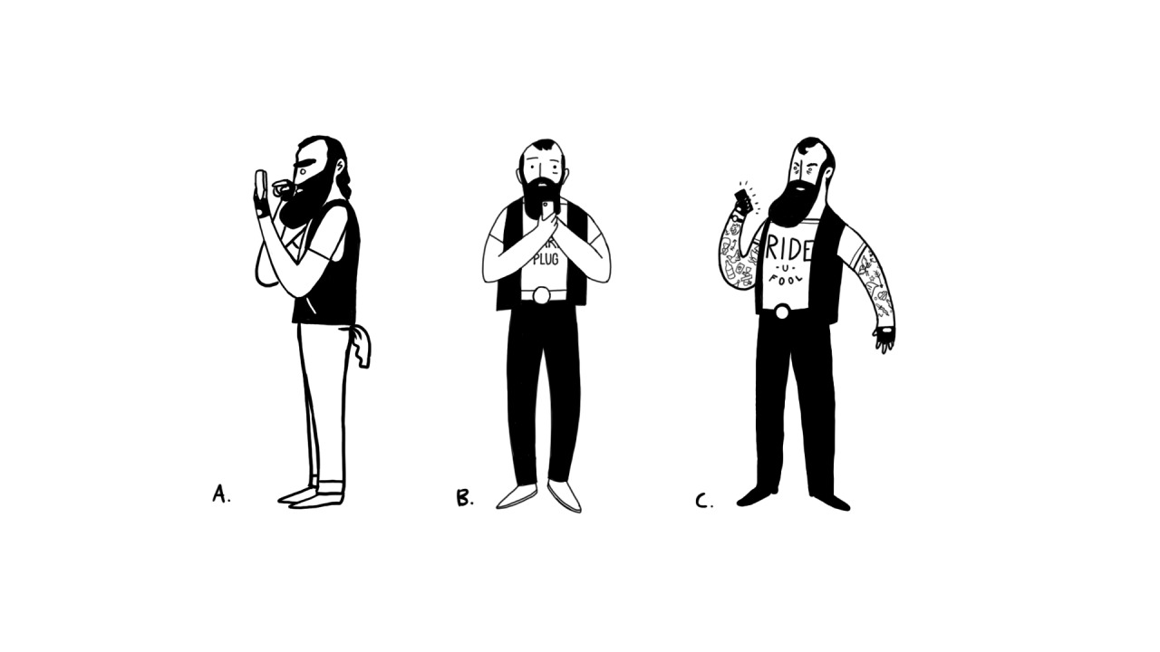 Characters for a facebook project.  Produced at Buck LA