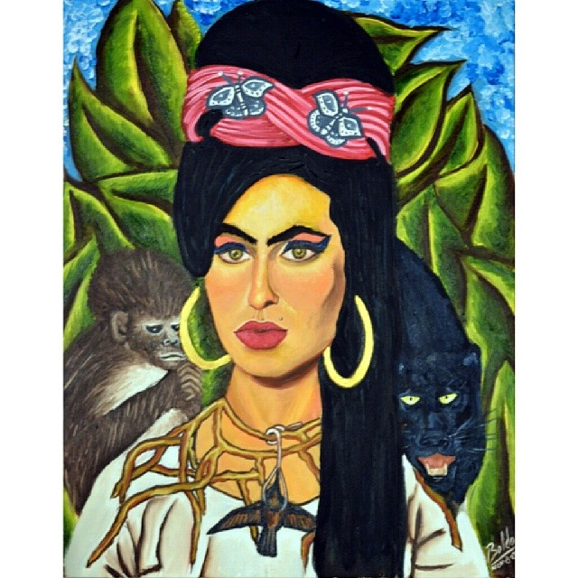 Amy Winehouse by Hector Boldo #oiloncanvas #amywinehouse #painting #artstagram #artist #oilpainting #art #fridakahlo #mexicanartist