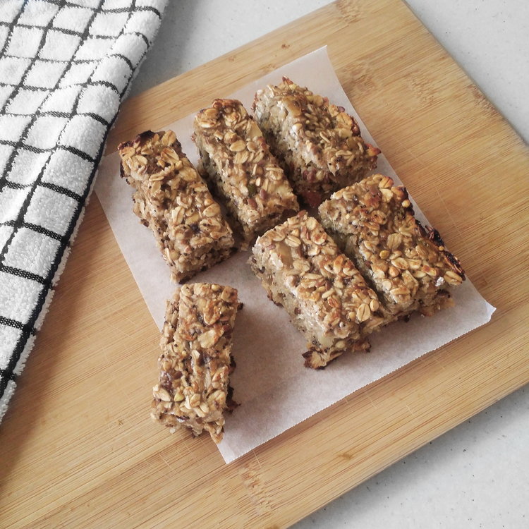 Banana Protein Bars (V) (GF) (DF)