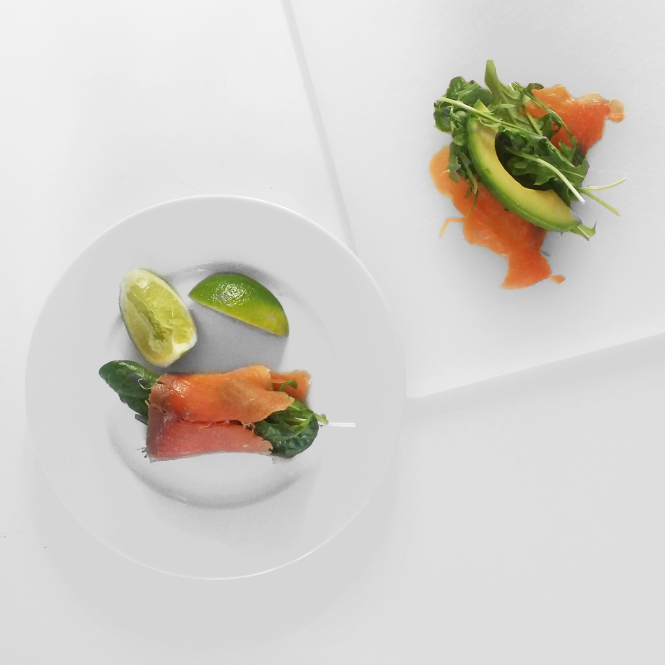 Lime, Salmon & Avo Wraps