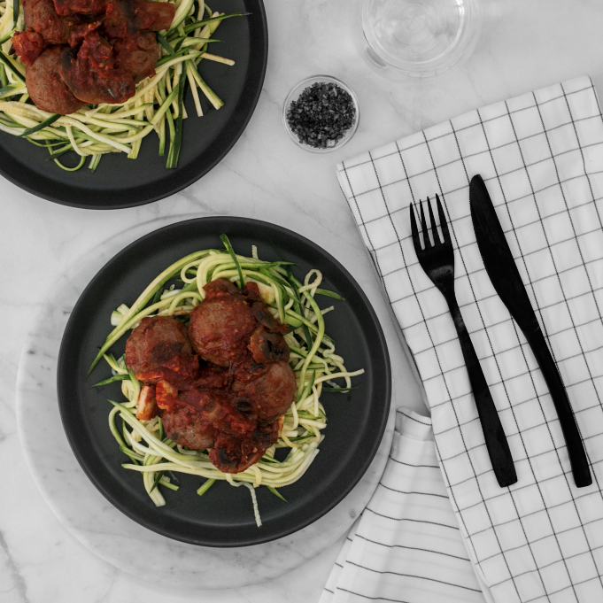 Low Carb Spaghetti & Meatballs (GF) (DF) (LC)