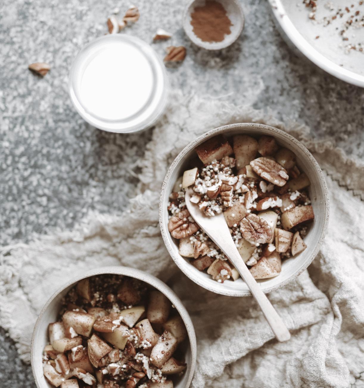 Spiced Apple Quinoa Porridge
