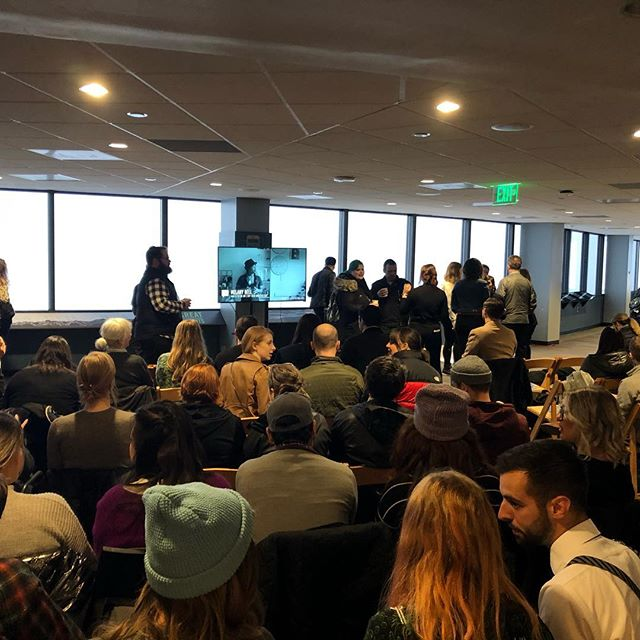 It's a packed house this morning at the @skyviewobservatory for @creativemorningsseattle. Melany Bell is going to kick it off shortly with her talk on #Water. There's some standing room in the back. Hope to see you here. . . .  #CMSeattle #CMCreative #FridayMorning #SeattlesCreative #Community #Family #CreativeMornings #GetHigh #Friends #Volunteers #SayHi #GetInvolved #TheSoundLife #PNW #PNWCreatives #DesignLife #ColumbiaTower #SkyView #LetsGetCreative #SeaTown #CMWater #LetsGetSocial #LetsConnect #CultureShift #WeAreCultureShift