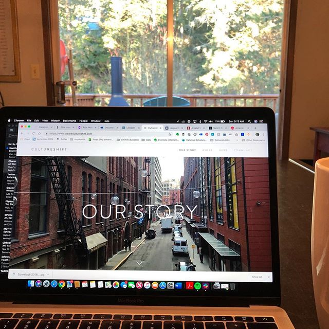 Spending a #Sunday working in our website, reviewing our content & working on a few new things. Super excited about a new offering we've been working on ... now to put it into motion! Let us know what you've got going on today & share the love. #WeAreCultureShift . . . #BetterTogether #2019goals #LetsLearn #StartUpCulture #MovingForward #Hello2019 #friends #family #community #dreamers #CultureShift #intention #bigchanges #Unstoppable #LetsGetSocial #LetsConnect  #ChangeIsComing  #NowsTheTime #LetsDoThis #WhyWait #NoStoppingUs #storytellers #pnw #CultureCounts #thesound #SoundLife #CompanyCulture