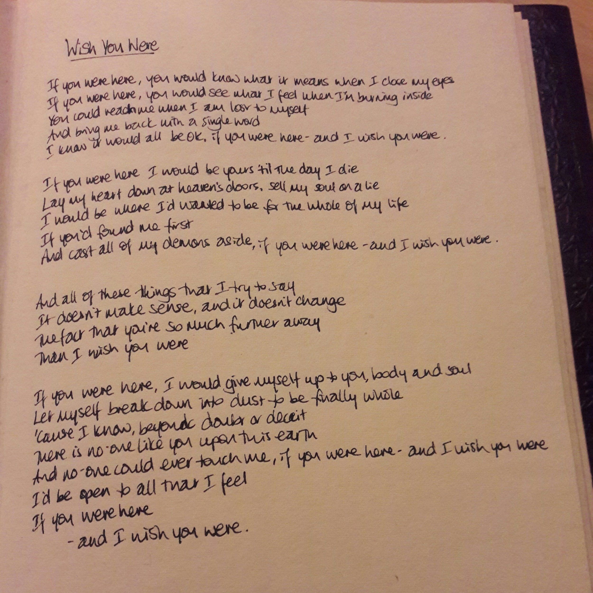 WishYouWereLyrics