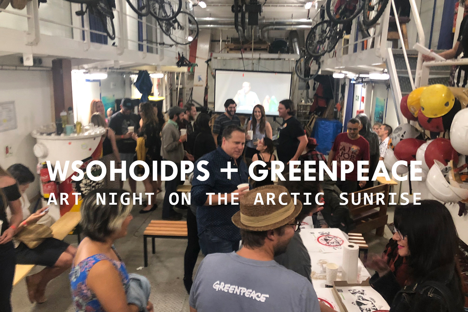 ART NIGHT ON THE ARCTIC SUNRISE