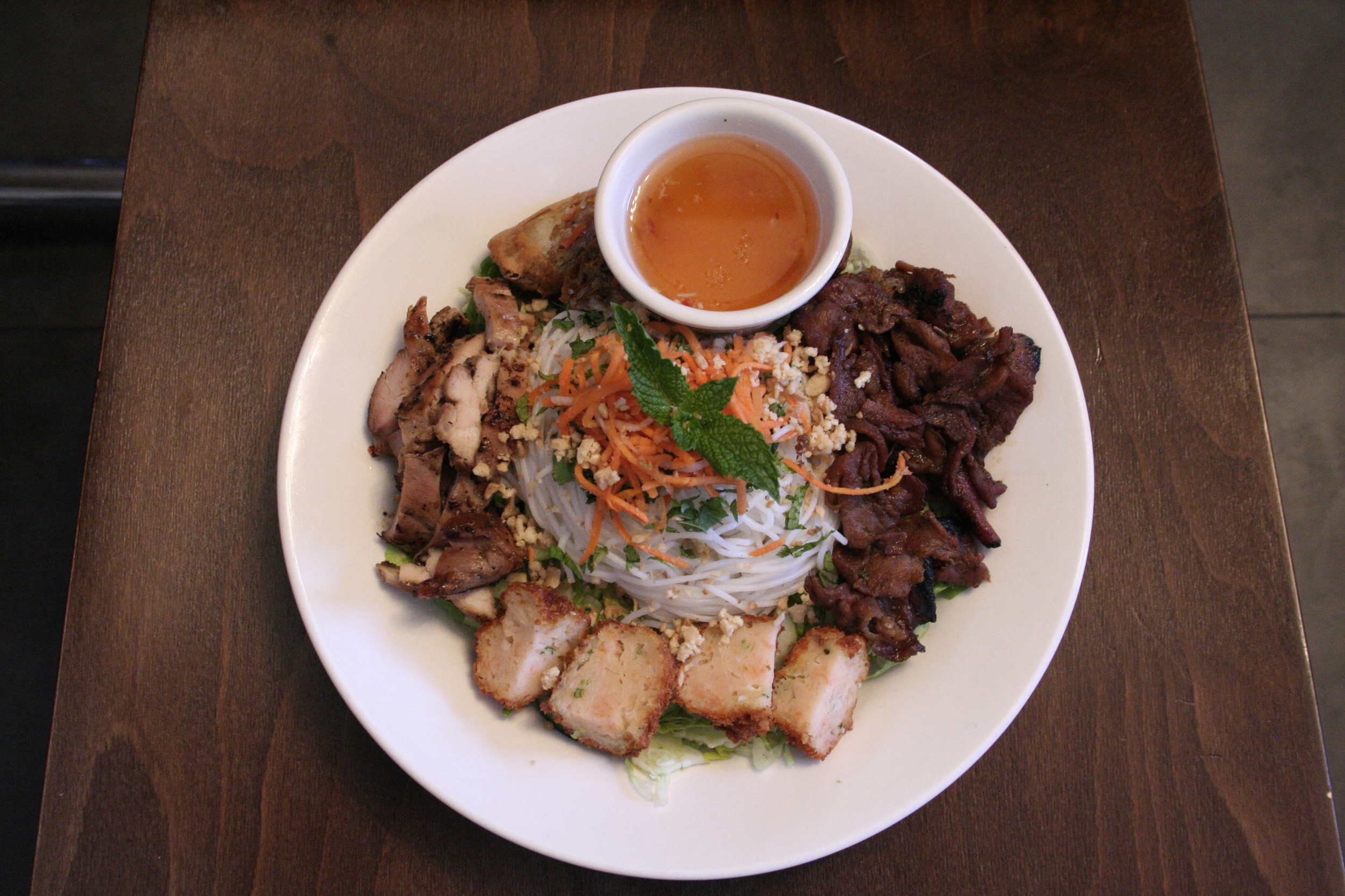 2: I got to go work on a photo shoot for an upcoming issue of the paper I work for, and we were shooting food from the local restaurant Namese. I got to eat this dish later.
