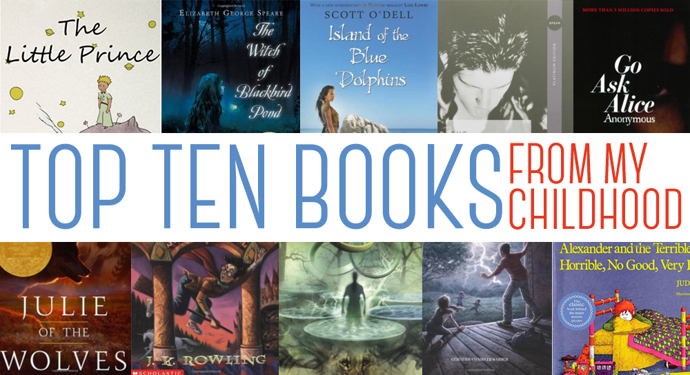 TOP TEN TUESDAY: BOOKS FROM MY YOUTH I'D LOVE TO REVISIT