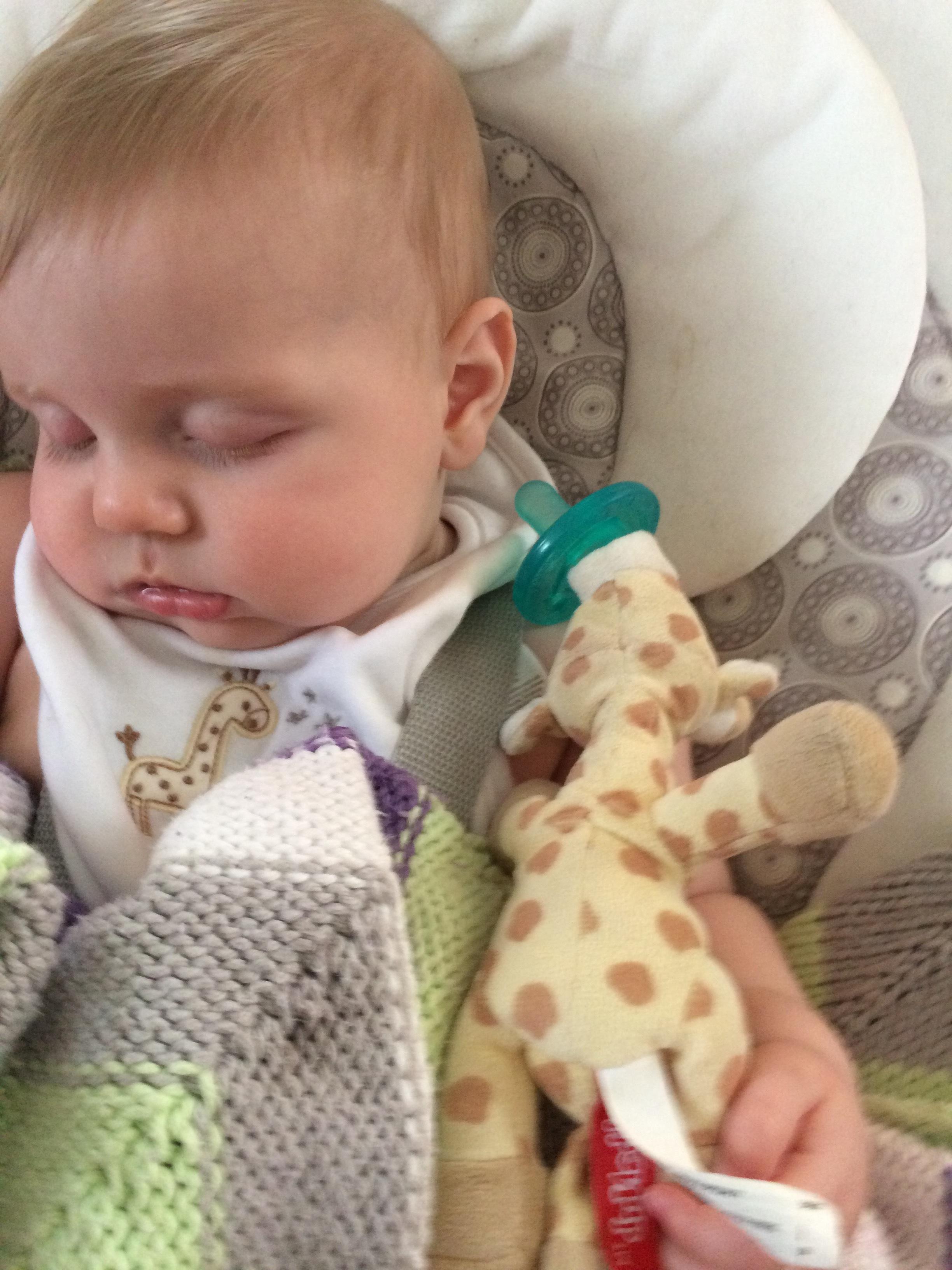A RARE MOMENT WHEN LAZY BABY ACTUALLY TAKES A NAP.