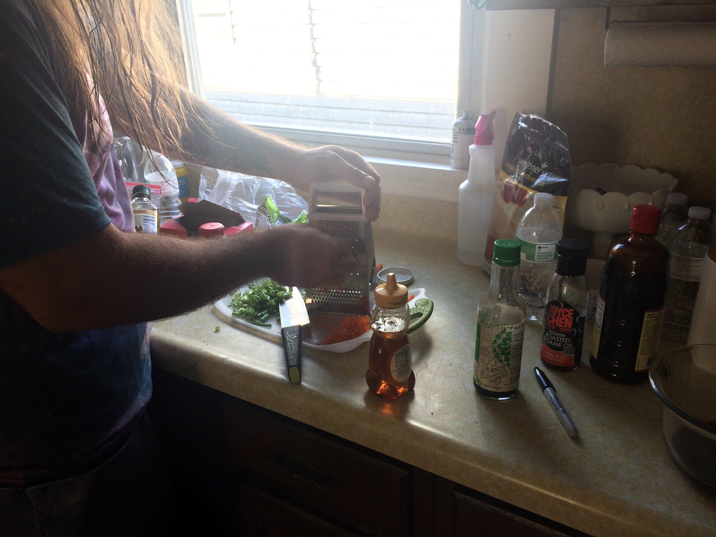6:15 pm-Making dinner