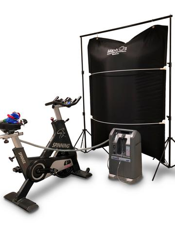 MaxxO2 EWOT - EWOT BASIC SYSTEM $1,495Basic includes the bag, medical grade mask, hoses, HEPA filters, O2 hose guide strap, pulse-oximeter and stands. Oxygen Generator Sold Separately.EWOT ALTITUDE SYSTEM $4,635This system can be used for EWOT or Altitude Training. The generator allows switching between breathing low purity oxygen and rich oxygen. The altitude oxygen purity is adjustable for different levels of athletic performance. You can adjust for multiple users or change your settings depending on training. This system has a maximum altitude 21,000 feet elevation based upon Manufacturer guidelines.