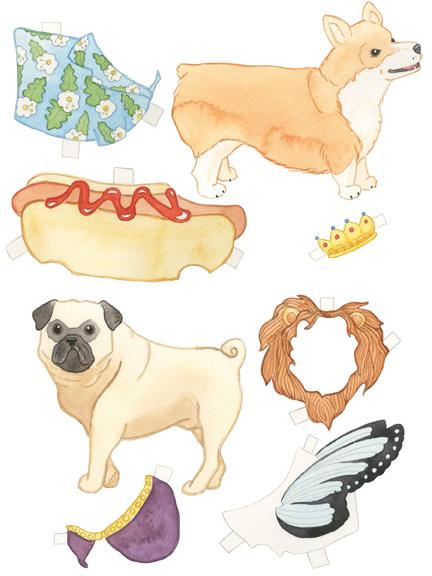Paper Dog Dolls