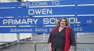 above: Tania Cattell, Chaplain at Owen and Two Wells Primary Schools