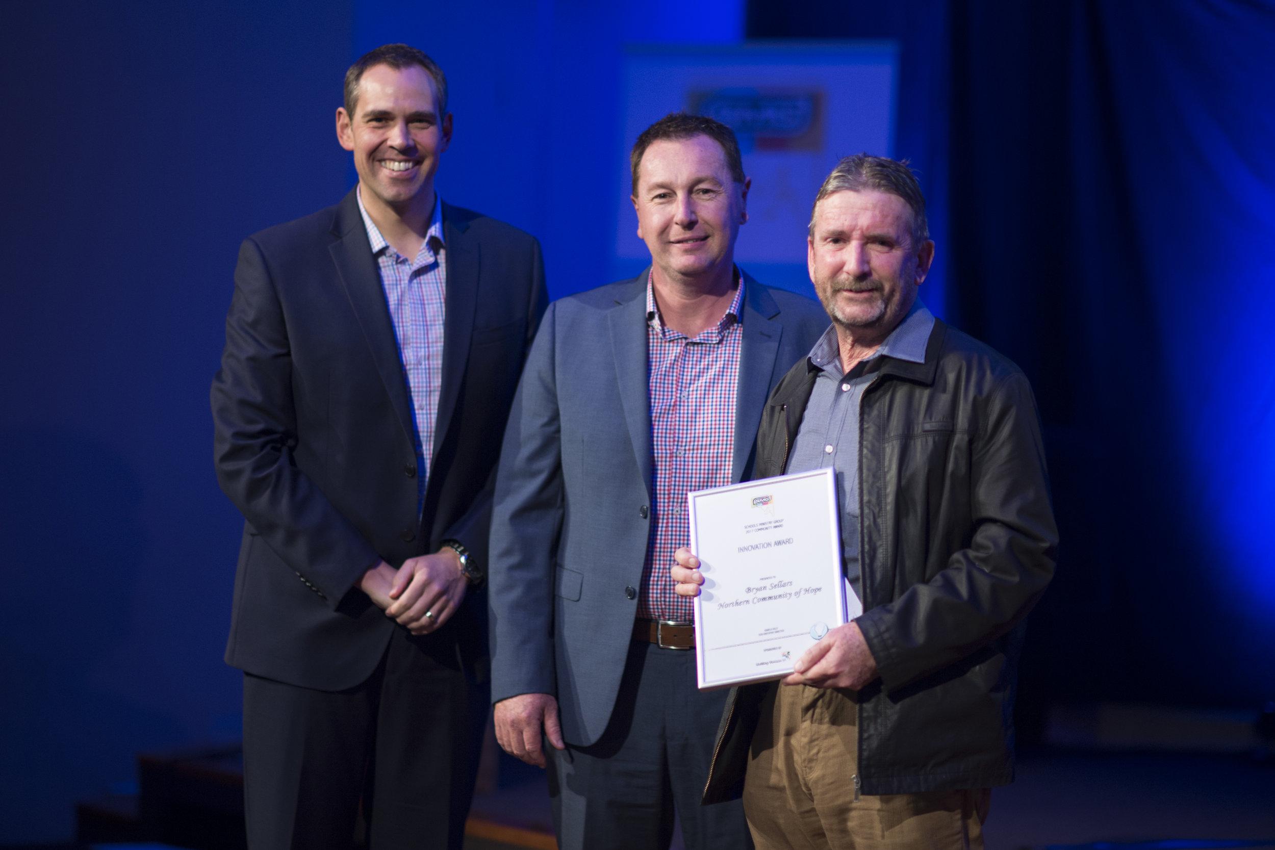 SMG Ambassador Brenton Ragless;Mark Lee, Uniting Venues SA and Bryan Sellars