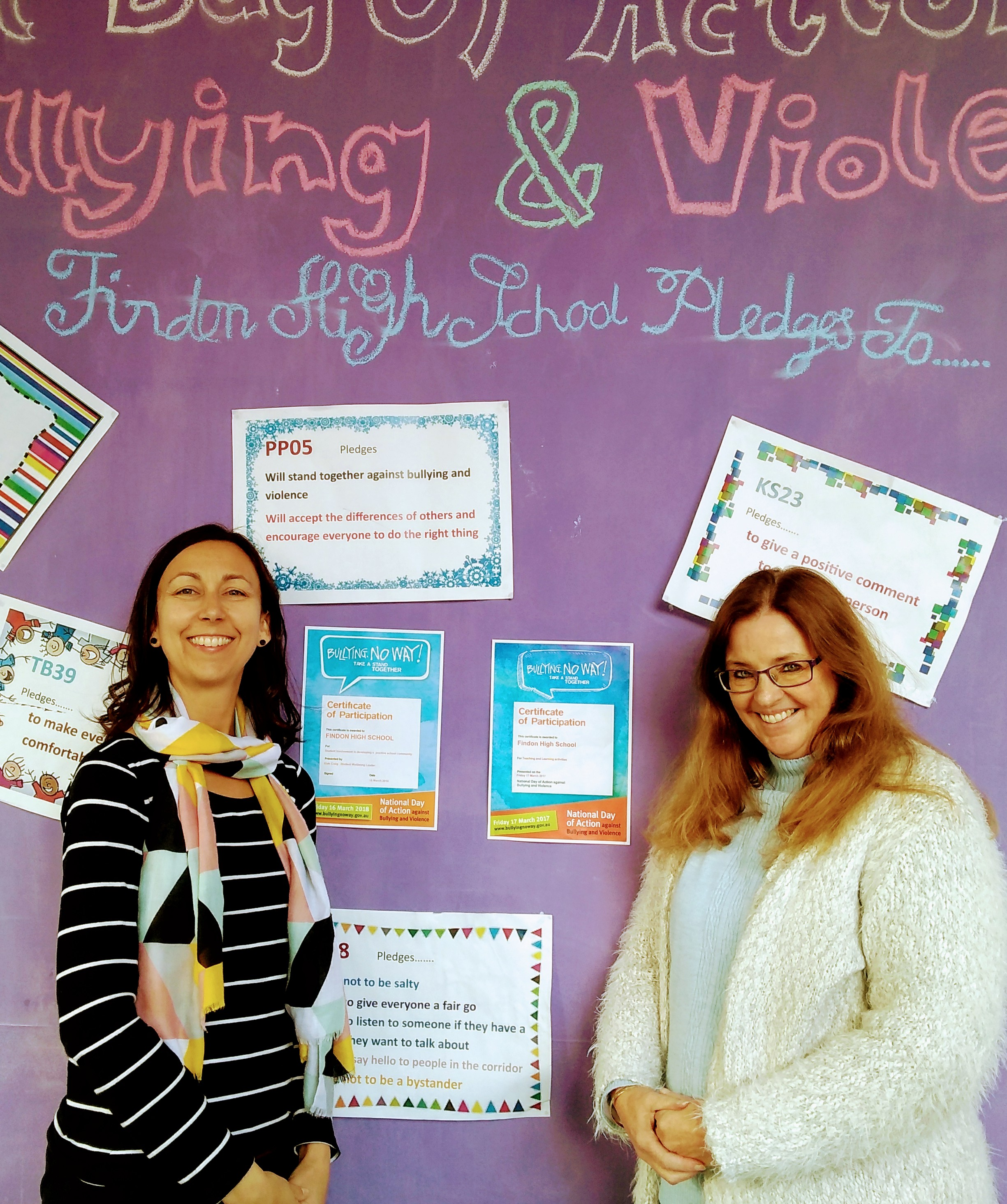 Kiah Craig, Student Wellbeing Leader and Kathy Pivetta, SMG Pastoral Care Worker