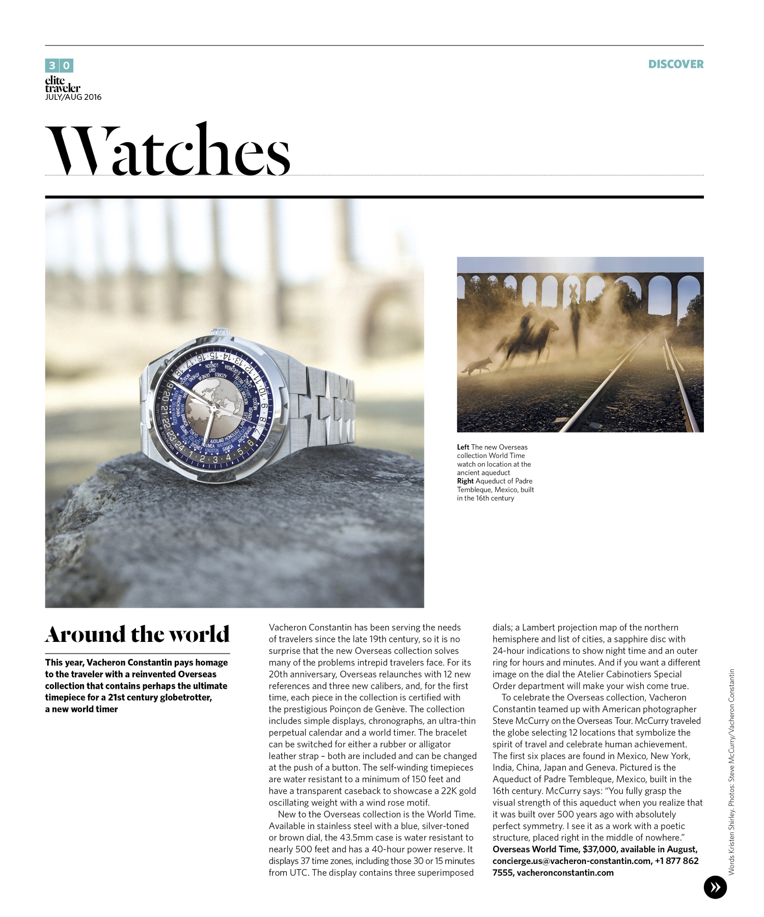 July/August 2016 | Vacheron Constantin Overseas World-Timer