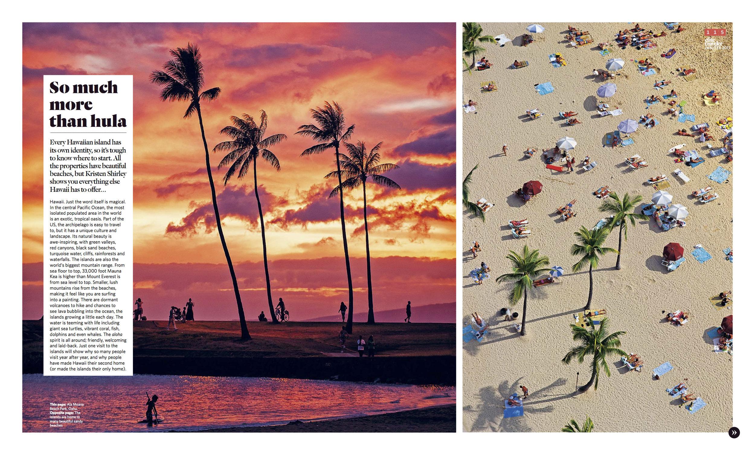 January/February 2016 | Hawaii Itinerary