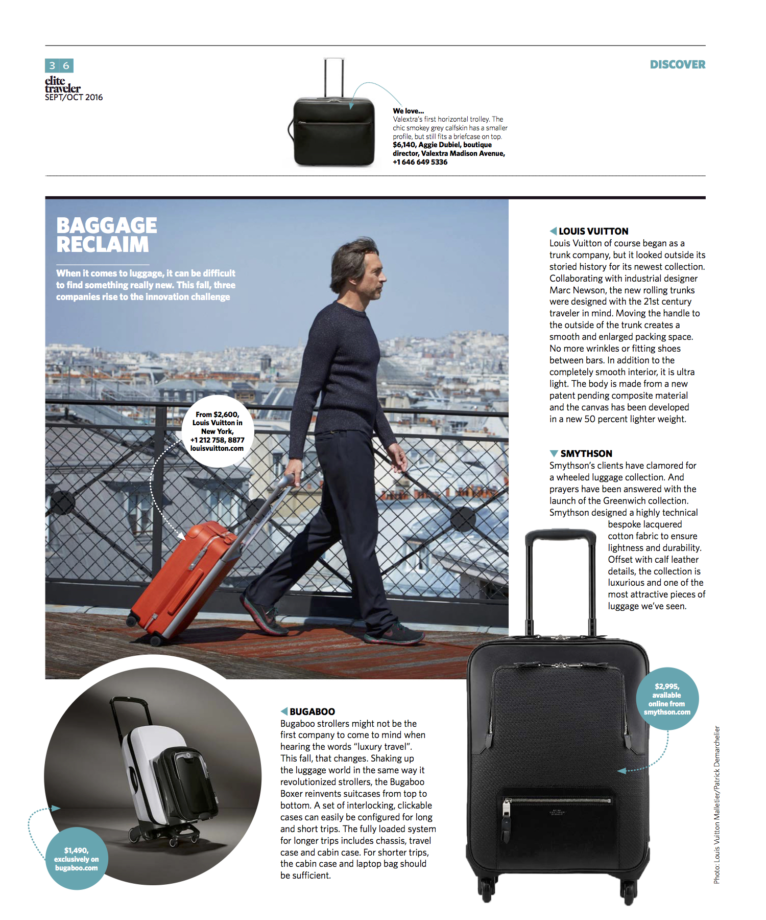 September/October 2016 | New Luggage Launches