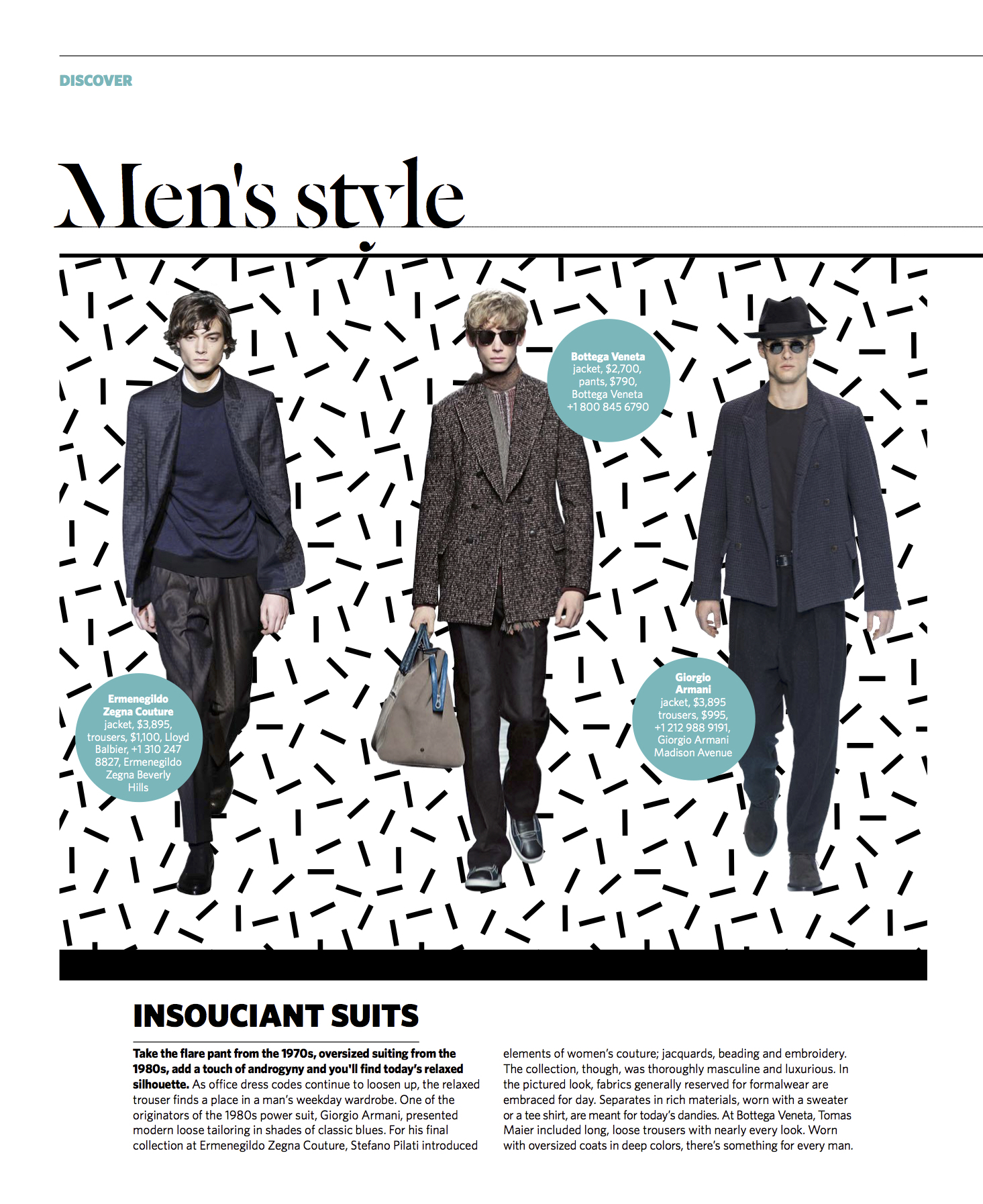 July/August 2016 | Slouchy Suiting Trend Report