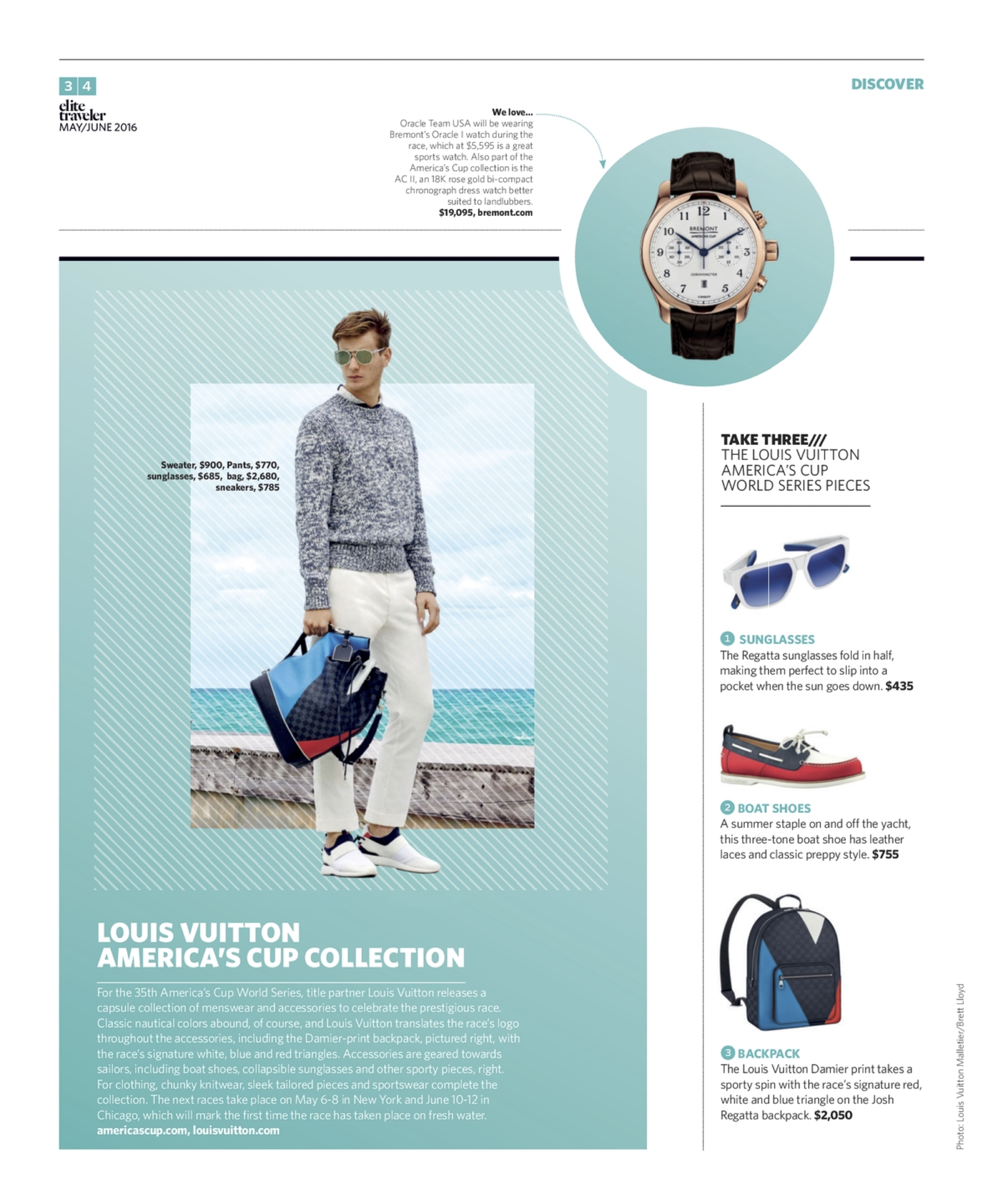 May/June 2016 | Louis Vuitton America's Cup Collection