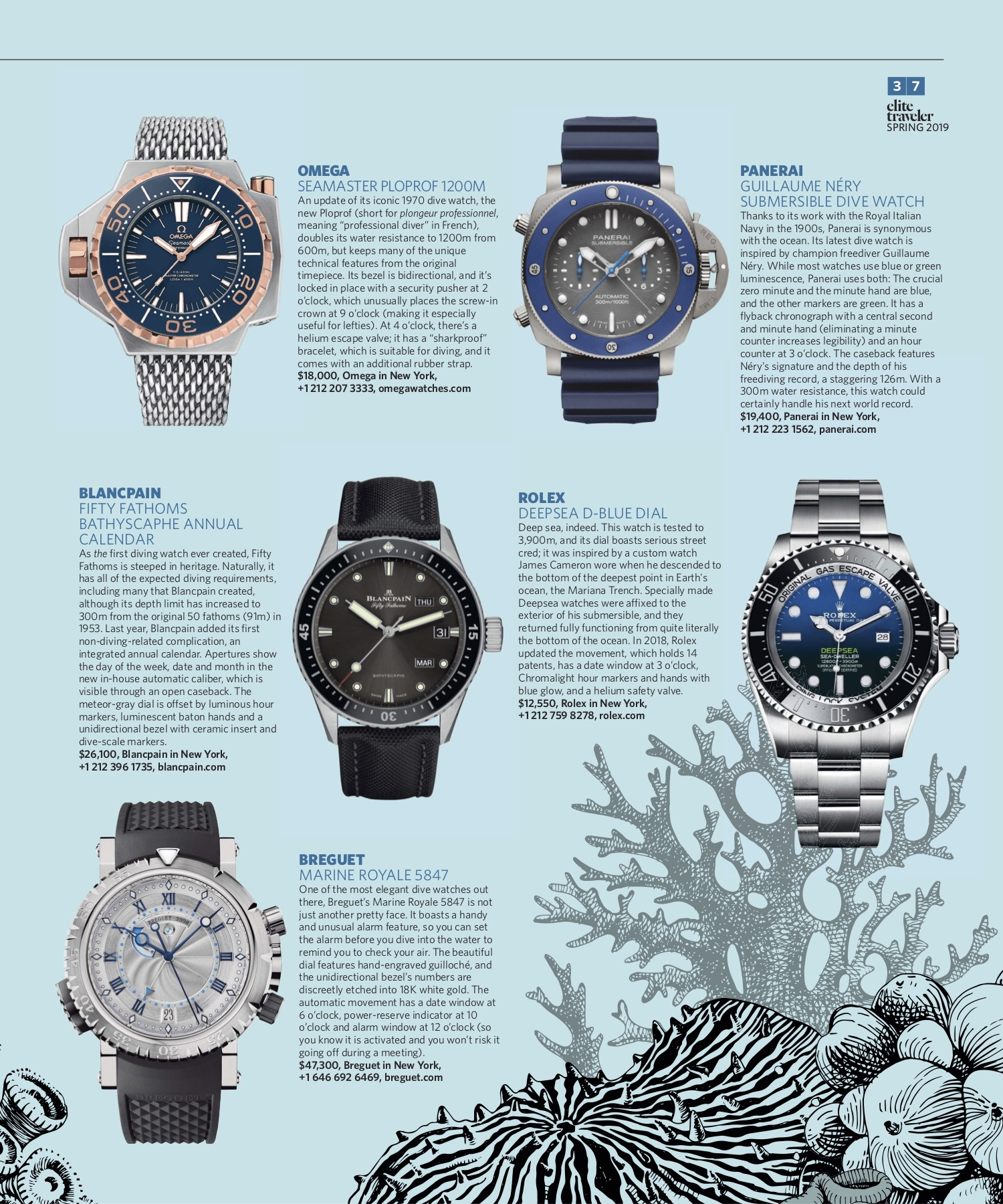 Spring 2019 | Dive Watches