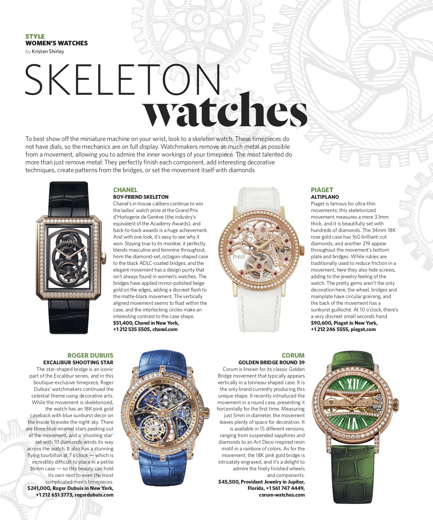 Summer 2019 | Skeleton Watches